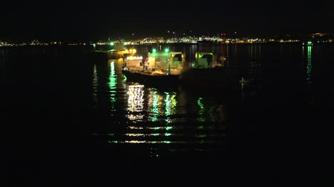 Gibraltar-Ship-At-Night