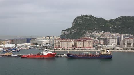 Gibraltar-Ships-Docked-And-City-Below-Rock