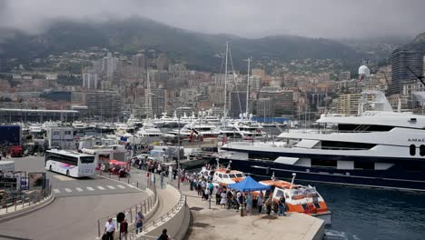 Monaco-Harbor-Tourists-Board-Tender