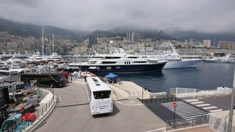 Monaco-Harbor-With-Buses
