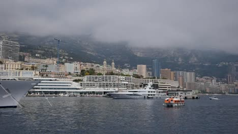 Monaco-Harbor-With-City-Yachts-And-Tender
