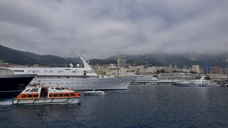 Monaco-Harbor-With-Yachts-And-Tender