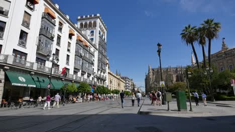 Seville-Constitution-Street-With-People