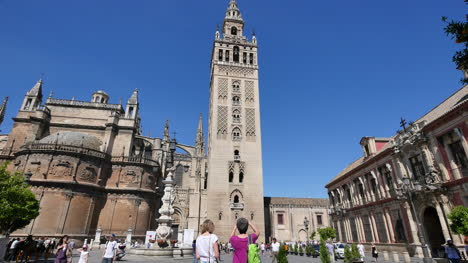 Seville-Giralda-Tower-By-Cathedral