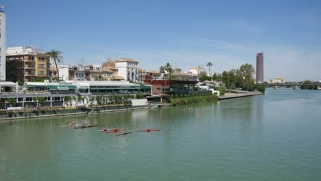 Seville-Guadalquivir-River-With-Rowing-Shells
