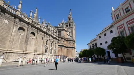 Seville-Cathedral-With-Giralda-Tower