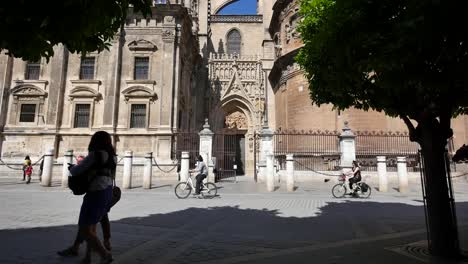 Seville-Cathedral-With-Girls-Watching