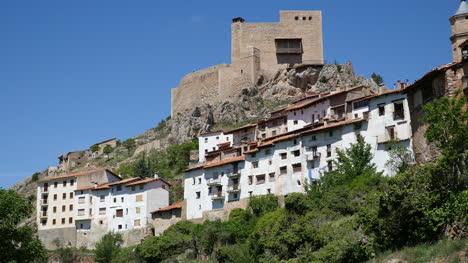 Spain-Alcala-De-La-Selva-Castle-Above-Village