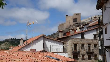 Spain-Alcala-De-La-Selva-Castle-Beyond-Roofs