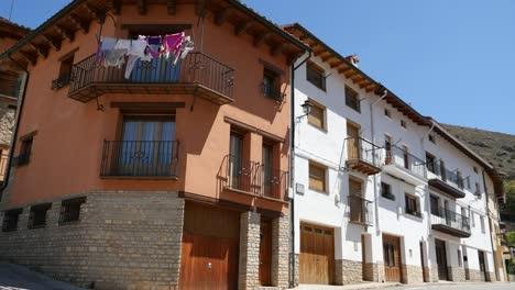 Spain-Alcala-De-La-Selva-Houses-Along-A-Street
