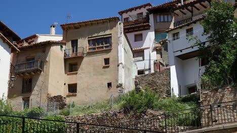 Spain-Alcala-De-La-Selva-Houses-On-Cliff