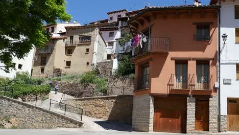 Spain-Alcala-De-La-Selva-With-Pathway-To-Town