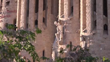 Spain-Barcelona-Sagrada-Familia-Christ-Zooms-Past-Tree-Tops