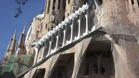 Spain-Barcelona-Sagrada-Familia-And-Carving-Of-Words