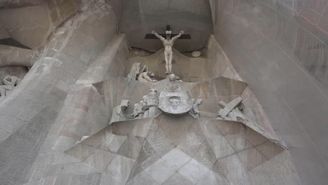 Spain-Barcelona-Sagrada-Familia-Crucifixion-Sculpture