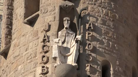 Spain-Barcelona-Sagrada-Familia-Figure-Of-The-Apostle-Saint-Jacob