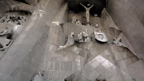 Spain-Barcelona-Sagrada-Familia-Looking-Up-At-Cross