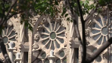 Spain-Barcelona-Sagrada-Familia-Ornate-Window