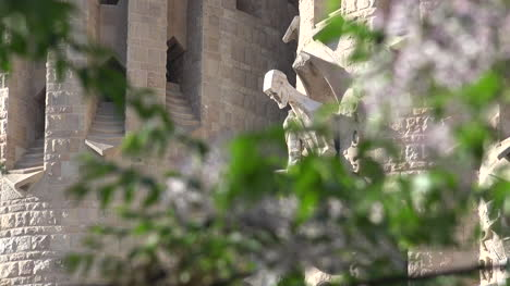 Spain-Barcelona-Sagrada-Familia-Saint-With-Tree-Branches