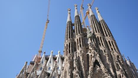Spain-Barcelona-Sagrada-Familia-Towers-And-Blue-Sky