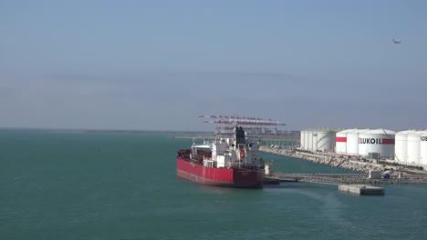 Spain-Barcelona-Tanker-And-Oil-Tanks