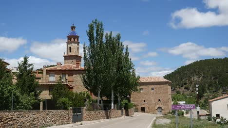 Spain-Cabra-De-Mora-Church-And-Trees