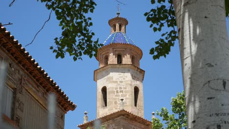 Spain-Cabra-De-Mora-Church-Blue-Tile-Tower-Top