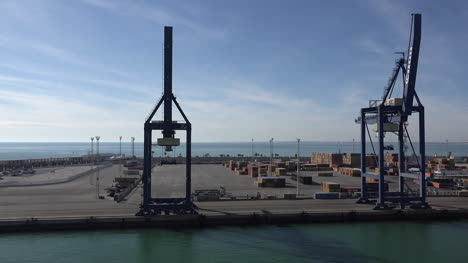 Spain-Cadiz-Passing-Dock-And-Loading-Cranes