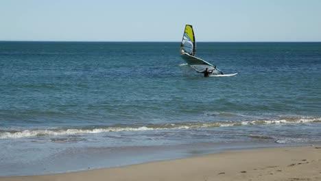 Spain-Cambrils-Windsurfers-Off-Shore
