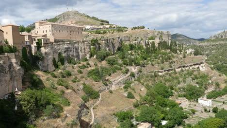 Spain-Cuenca-Buildings-On-Cliff-And-Below-City
