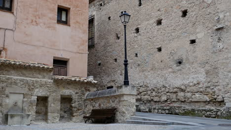 Spain-Cuenca-Lamp-Post-By-Side-Street