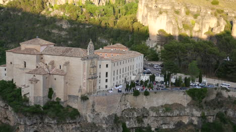 Spain-Cuenca-Parador-In-Late-Evening-With-Party