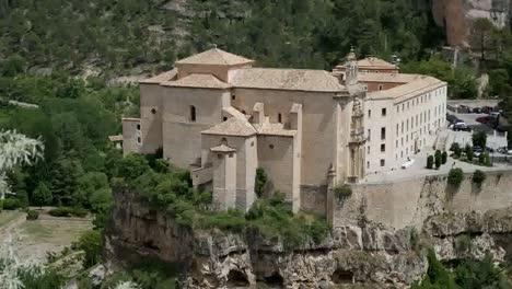 Spain-Cuenca-Parador-On-Cliff-In-Valley