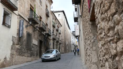 Spain-Cuenca-Street-With-Car