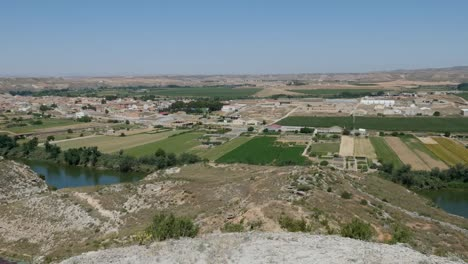 Spain-Ebro-River-At-Sastago-With-Fields