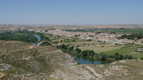Spain-Ebro-River-With-Sastago-Beyond