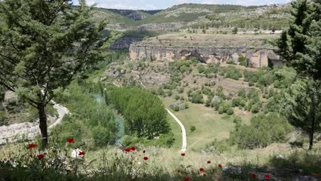 Spain-Jucar-River-And-Road-Near-Cuenca