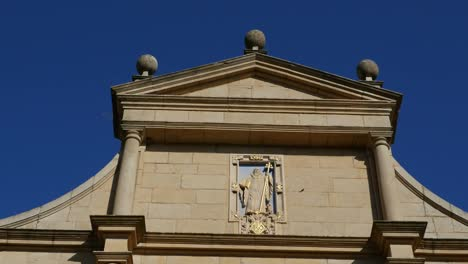 Spain-Monasterio-De-Rueda-Facade-With-Saint