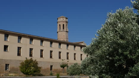 Spain-Monasterio-De-Rueda-Tower-And-Building