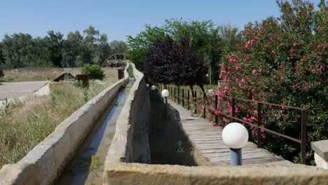 Spain-Monasterio-De-Rueda-Water-Wheel-And-Irrigation-Channel