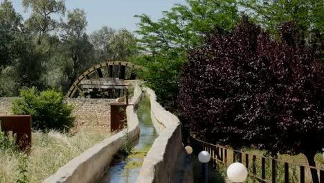 Spain-Monasterio-De-Rueda-Water-Wheel-And-Stone-Channel