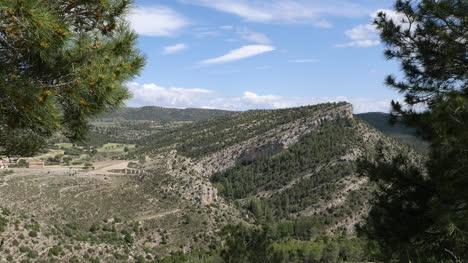 Spain-Sierra-De-Gudar-Hill-With-Tilted-Strata