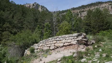 Spain-Sierra-De-Gudar-View-With-Stone-Wall