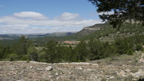 Spain-Sierra-De-Gudar-View-With-Stony-Foreground