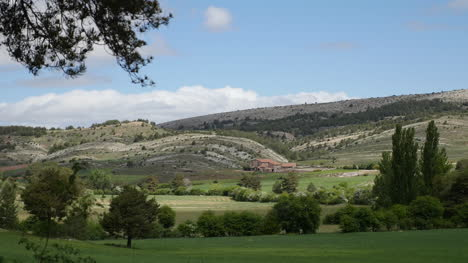 Spain-Sierra-De-Gudar-Wheat-Field-And-Hills