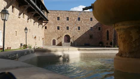 Spain-Siguenza-Castle-Fountain-In-Courtyard