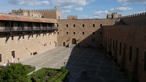 Spain-Siguenza-Castle-Looking-Down-On-Courtyard