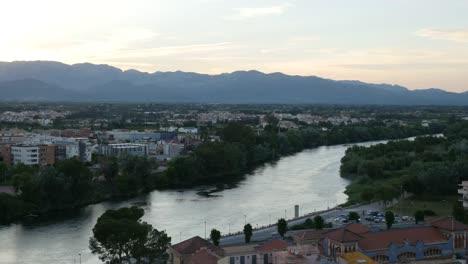 Spain-Tortosa-Ebro-River-After-Sunset