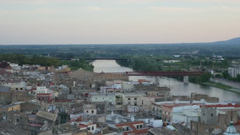 Spain-Tortosa-City-In-Twilight