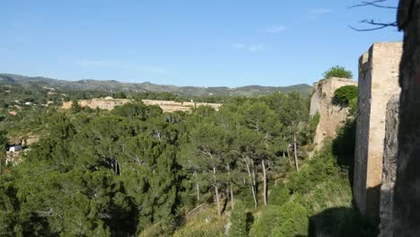 Spain-Tortosa-View-Beyond-Fortress-Walls